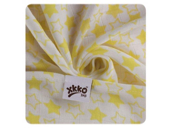 bambusove pleny xkko bmb 70x70 little stars lemon