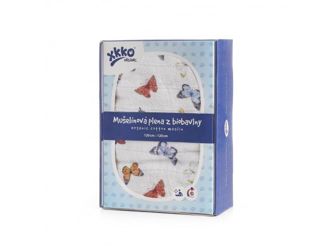 biobavlnena plena xkko organic 120x120 butterflies cff